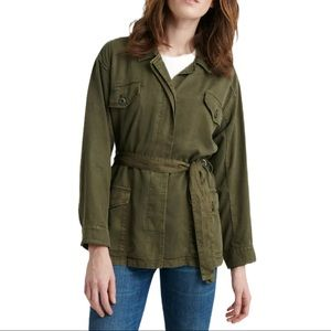 Lucky Brand olive green utility jacket medium New